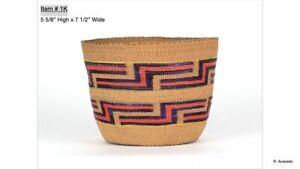 "Tlingit basket; early 20th century; 5 5/8"" x 7 1/2"""