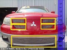 GTG 2003 - 2006 Mitsubishi Outlander 5PC Polished Combo Billet Grille Grill Kit
