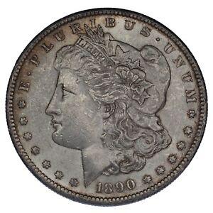 1890-S Silver Morgan Dollar in Unc Condition