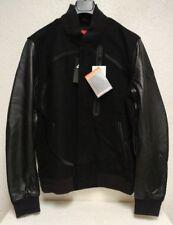 NWT $500 Nike Air Men's Destroyer OG Wool/Leather Black Bomber Jacket Sz L