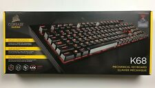 Corsair K68 Mechanical Gaming Keyboard - Red LED - CHERRY® MX Red- New