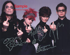 THE OSBOURNES Cast Signed Autographed Reprint 10x8 Photo #1