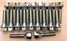 20 x M12X1.5 85 mm di lunghezza 60 mm Filettatura 60 gradi bulloni cerchi in lega Si Adatta Audi 57.1