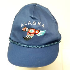 Blue Alaska Baseball Cap Flying Eagle Totem Adjustable Snapback