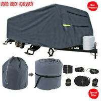 US Waterproof Travel Trailer RV Cover For Trailer Camper 27-30FT W/Zipper Sturdy