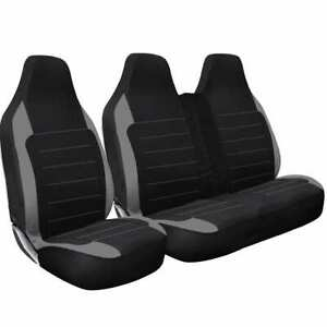 CITROEN DISPATCH 2014 2015- QUILTED GREY PATCH VAN SEAT COVERS - SINGLE + DOUBLE