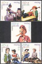 Germania 2001 fondo di benessere/libri per bambini/PINOCCHIO/TOM SAWYER/HEIDI 5v n42773