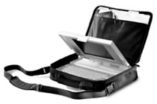 Kensington Tote Vintage Notebook Laptop Carry Case Ballistic Nylon Black