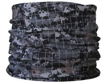 Col tube grille pixels ski motard moto vélo chapeau bonnet snood couche de base gris