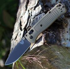 Benchmade Bugout Grey/Green EDC Folding Axis Hiking Knife S30V B535GRY-1