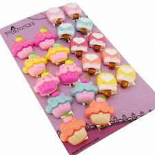 Color Ice-cream Cupcake Popsicle Clip-On Earrings for Teen Girls Kids, 10 Pairs