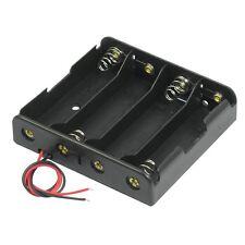 Negro 4 X 3.7V 18650 baterías de Punta Puntiagudo Sostenedor de Batería Carcasa W alambre conduce O1X6