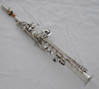 Professional silver nickel Eb sopranino Saxophone Sax Low B to high F# with case