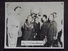 WW2 JAPANESE SURRENDER GROUP  VTG 1940's  TOKYO PHOTO #2