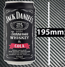 Jack Daniel's & Cola Whisky Can Sticker Hotrod Toolbox Bar Fridge Man cave BBQ