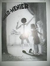 PUBLICITE DE PRESSE MENIER CHOCOLAT EN POUDRE ILLUSTRATION VIC FRENCH AD 1931
