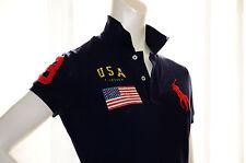 NWT RALPH LAUREN MESH BIG PONY USA FLAG SKINNY SHIRT CASUAL SUMMER BEACH GOLF L