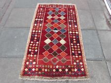 Old Traditional Hand Made Persian Oriental Wool Red  Gabbeh Rug 165x95cm