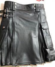 Utility Cargo Kilt in Leather for Ohio Champion and Fashion Garments Kilt pocket