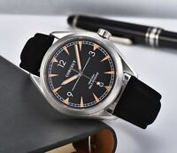 Fashion 41mm corgeut black dial sapphire glass sea-gull Automatic mens Watch