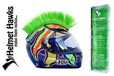 Helmet Hawks ™ Mohawk Fluorescent Lime Green Motorcycle Bike BMX Helmet Mohawks