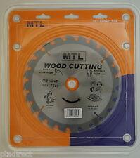 MTL brand 216mm x 24T x 30mm bore TCT Circular Mitre Chop Saw Blade for Wood