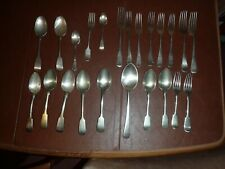 23 ITEMS OF VINTAGE EPNS & SILVER ALLOY CUTLERY, INCL HOBSONIAN, POTOSI, NEVADA.