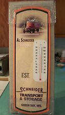 "SCHNEIDER NATIONAL/TRANSPORT 24"" Steel Thermometer~Trucking~First Gear~Green Bay"