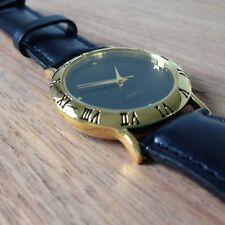 1 x Ladies Wrist Watch Quality Citizen Motor Genuine Black Leather Strap