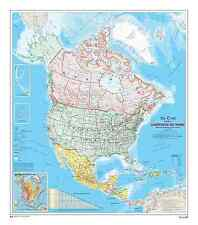 North American Map (French Version) 7.5' x 8.5' (2,29m x 2,59m)-Wall Mural