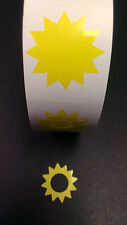 Tanning Bed Stickers    Sunburst     Quantity 100