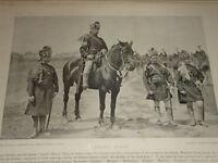 1896 JACOB'S Cheval 6TH Bombay Cavalry Sind Armée Uniforme Indien Inde