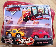 Disney PIXAR World of Cars MINI ADVENTURES Race Rods MCQUEEN & CHICK HICKS
