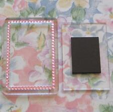 1x Blank Pink Gemstone Acrylic Magnet 81x55mm Frame Size & 70x45mm Photo Size