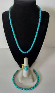 STUNNING! 925 Sterling Silver Mixed Match Blue Stone NECKLACE / BRACELET / RING