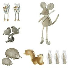 Christmas Decorations Animal Ornaments Bird Squirrel Mouse Xmas Figurines Decor