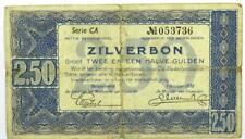 1938 Netherlands 2.5 Gulden Banknote