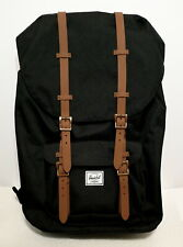 HERSCHEL SUPPLY LITTLE AMERICA 25L (BLACK/BROWN) CANVAS BACKPACK BRAND NEW w/TAG
