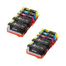 10pcs 920XL Ink Cartridge 4BL/2C/2M/2Y for HP PRINTER OfficeJet 6000 7500a