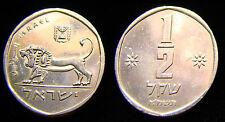 2 SILVER Plated Half Sheqel 1/2 Shekel Ancient Lion on NLM Israel Israeli Coins
