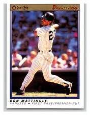 (HCW) 1991 O-Pee-Chee Premeir #77 Don Mattingly Yankees MLB Mint