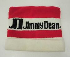 Jimmy Dean Sausage Hat Cap Knit Beanie Ski Winter Red White Black Vintage Retro