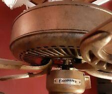"""Casablanca ceiling fan """"Four Seasons lll"""" aged gold"""