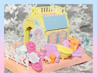❤️My Little Pony G1 Vtg PETITE Happy Hearts Cottage Playset House & PONY❤️