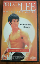 BRUCE LEE MARTIAL ARTS MASTER  ORIGINAL RELEASE AS NEW RARE PAL VHS VIDEO