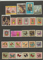 ECUADOR STAMP COLLECTION USED 315 BUTTERFLIES BIRDS SAINTS FLOWERS PLANES JUMBOS