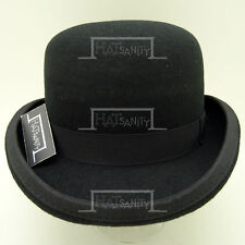 VINTAGE Wool Felt Dura Bowler Top Hat Men Women Derby Unisex NEW | 57cm | Black
