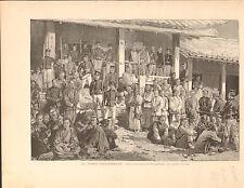 Japan Russo-Japanese War Battle Pyongyang China FRANCE GRAVURE OLD PRINT 1894
