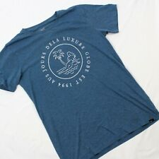 VTG Globe Marine Heather Luxure T-Shirt Single Stitch Men L 60/40 Blend Paradise