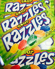 Razzles SOUR 24ct Case Classic  First It's Candy Then It's Gum FREE SHIPPING